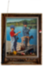 Custom Fishing Pictures Frame