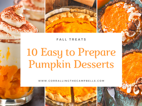 10 Easy to Prepare Pumpkin Desserts