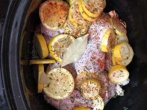 Crockpot Lemon Garlic Chicken