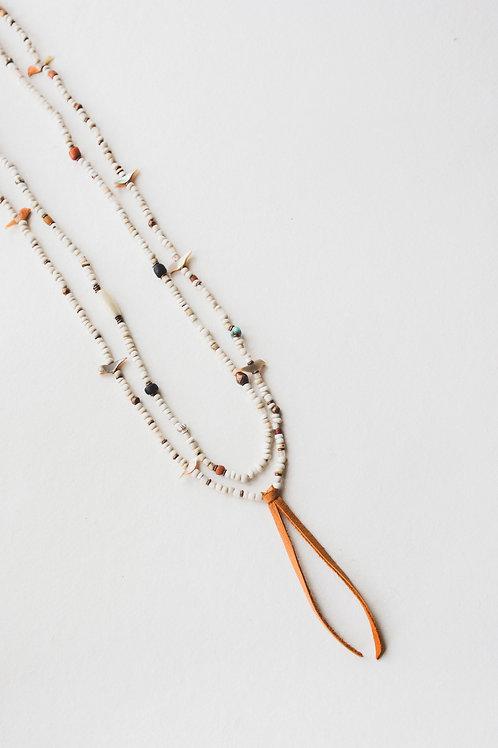 vintage bird fetish necklace