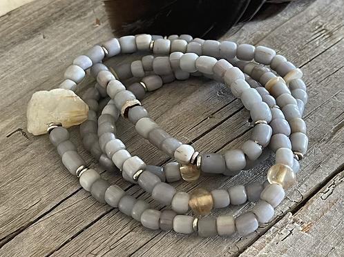 Citrine Trade Bead Necklace
