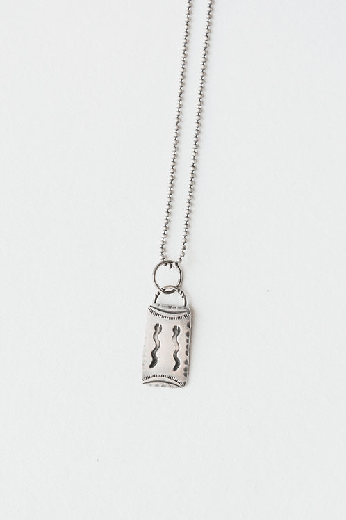 two snake tag necklace