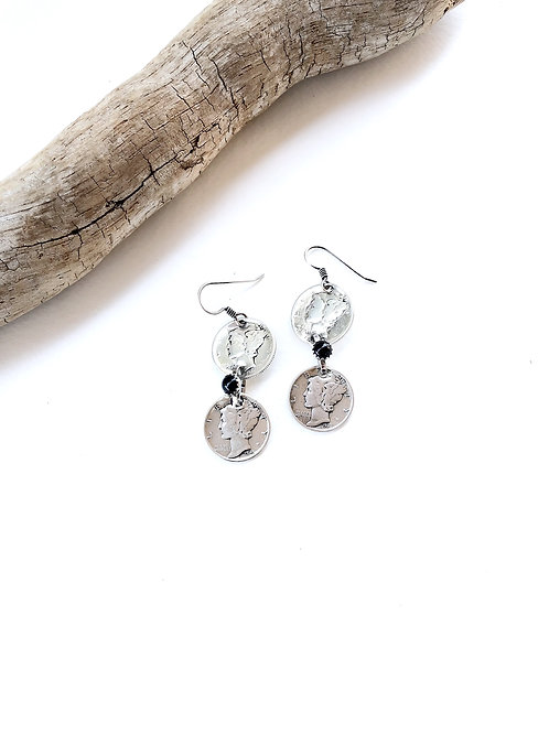 mercury dime earrings