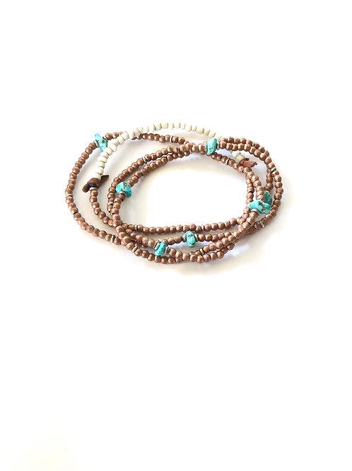 copper trade bead necklace