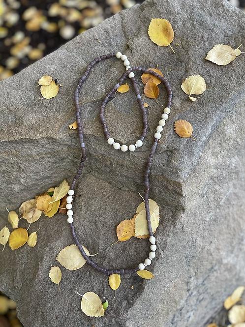 Deep Purple Trade Bead Necklace