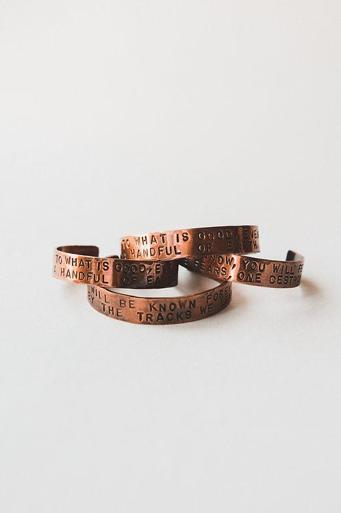 copper prayer cuff