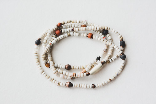 trade bead necklace old ivory