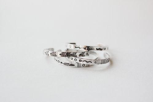 stamped sterling cuffs