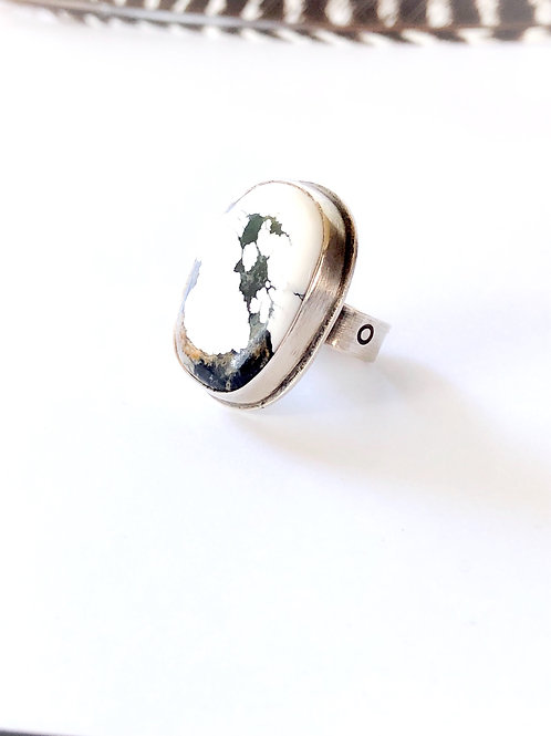 white buffalo statement ring