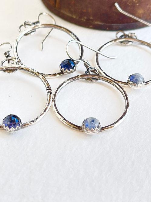 Little Gem Moon Earrings