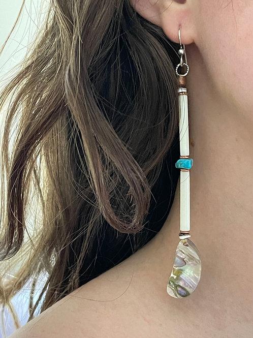 Organic Abalone Earring