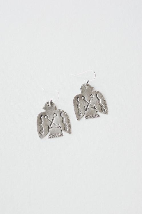 t-bird & snake earrings