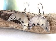 five peaks earrings in sterling