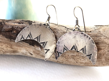 five peaks earrings in sterling