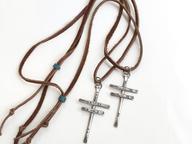 dragonfly crosses / bison hide /trade bead slide