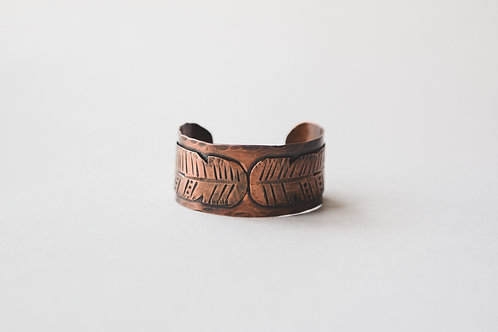 two feathers copper cuff