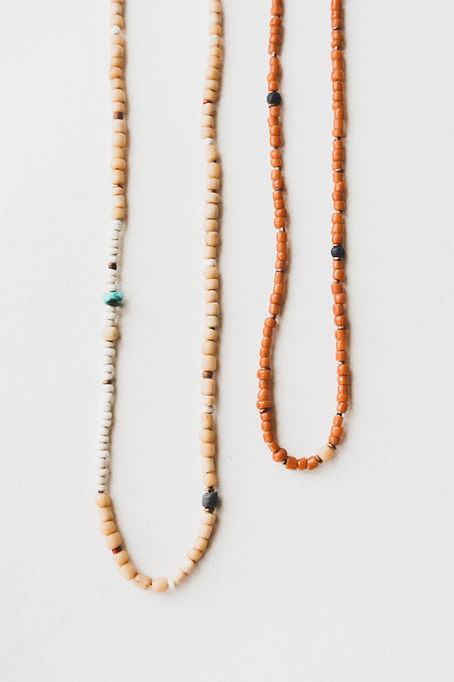trade bead necklace sienna