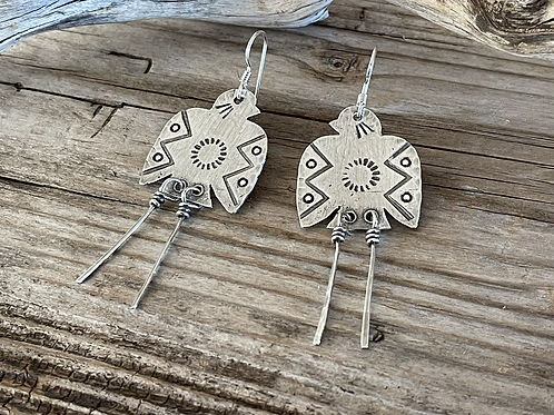 Thunderbird Earrings (with tails)