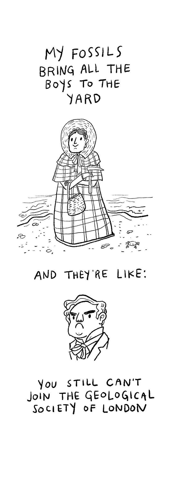 Mary Anning Cartoon by Kate Beaton