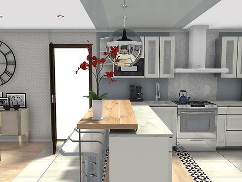2D Kitchen Space Plan