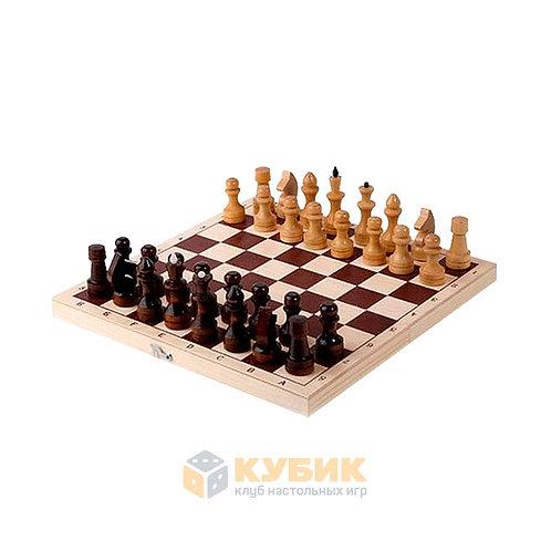 Копия Шахматы обиходные лакированные с доской