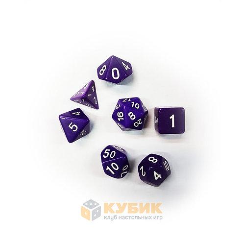 Набор дайсов 7 шт фиолетовые