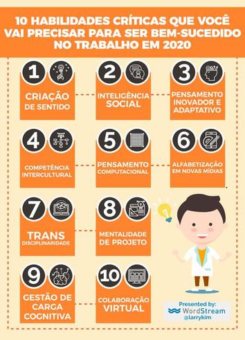 10 Habilidades críticas para se dar bem no trabalho