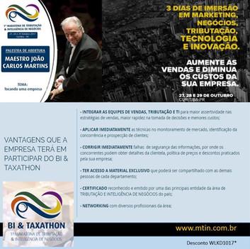 1ª Maratona de Tributação e Inteligência de Negócios