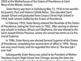 Sister Nancy Nolan, SP Obituary