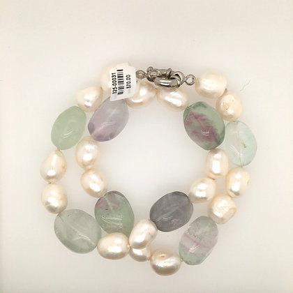 Pearl and glass necklace