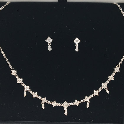 Diamond earring and necklace set