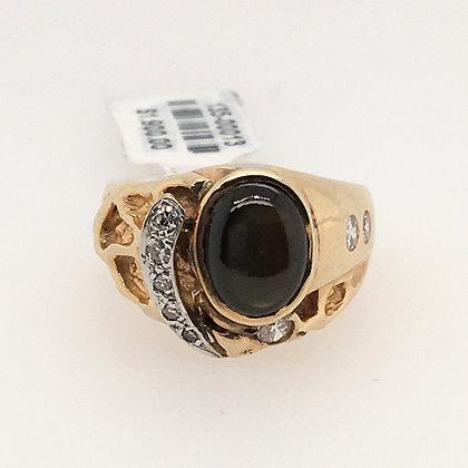 Tigers eye and diamond ring