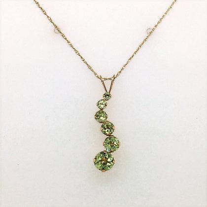 Peridot journey necklace