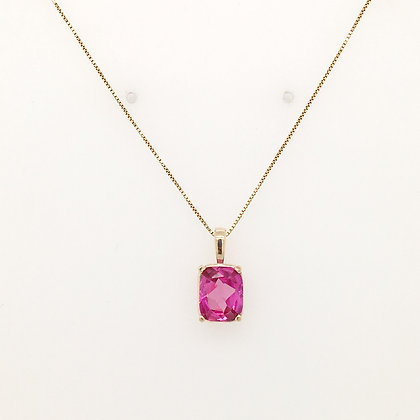 Pink spinel necklace