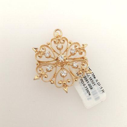Diamond pendant/ pin