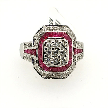 Ruby and diamond weight