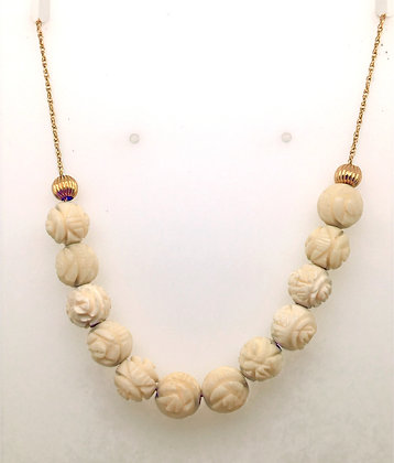 Carved necklace