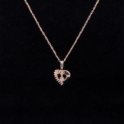 White topaz heart necklace
