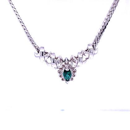 Emerald and diamond necklace