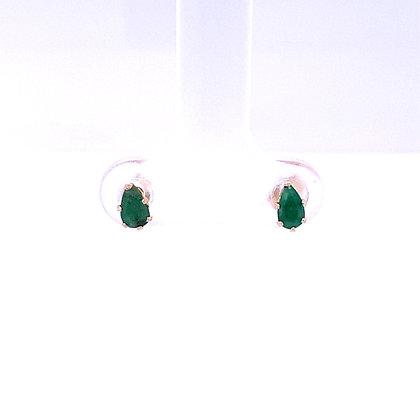 Children's emerald earrings