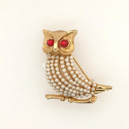 Costume owl pin