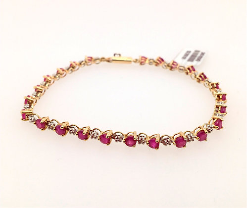 Diamond and ruby bracelet