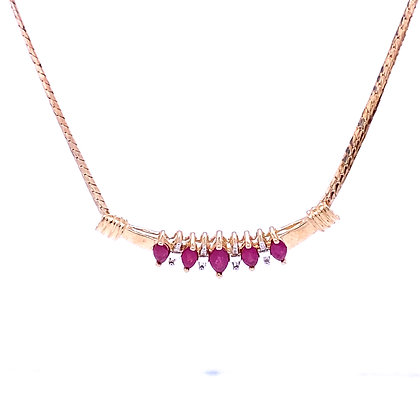 Spinel and sapphire necklace