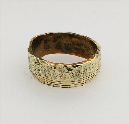 Handmade brass ring