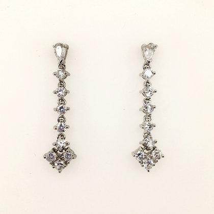 Cubic zirconium drop earrings