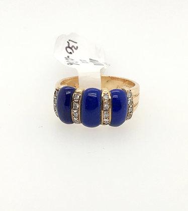 Lapis lazuli and diamond ring