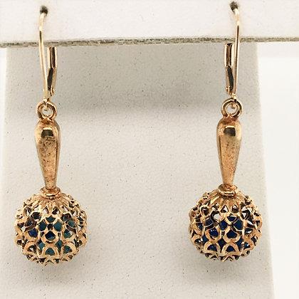 Glass filled drop earrings