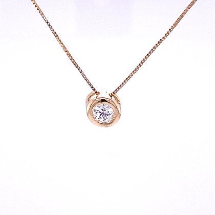 Diamond slide necklace