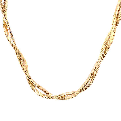 Twisted necklace chain