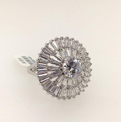Cubic zirconium ballerina ring